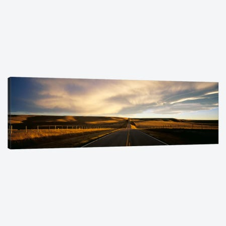 Country Road, Montana, USA Canvas Print #PIM1489} by Panoramic Images Art Print