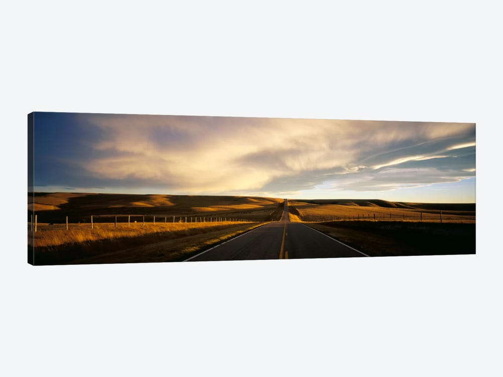 Country Road, Montana, USA 1-piece Canvas Artwork