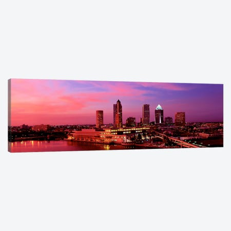 USA, Florida, Tampa , night Canvas Print #PIM148} by Panoramic Images Canvas Art Print