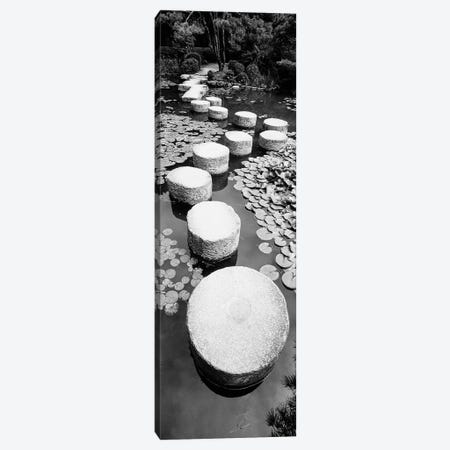 Shrine Garden, Kyoto, Japan (Black And White) I Canvas Print #PIM14905} by Panoramic Images Canvas Art Print