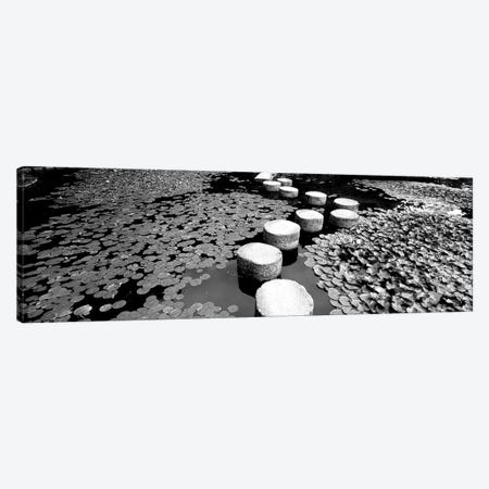 Shrine Garden, Kyoto, Japan (Black And White) II Canvas Print #PIM14906} by Panoramic Images Canvas Art Print