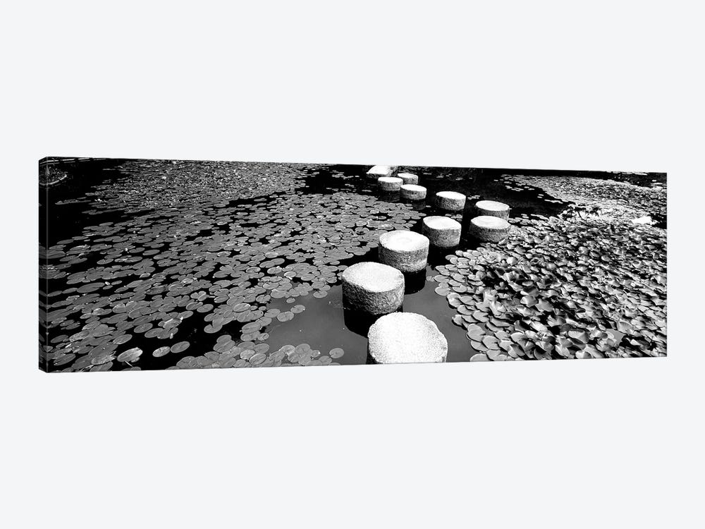 Shrine Garden, Kyoto, Japan (Black And White) II by Panoramic Images 1-piece Canvas Art