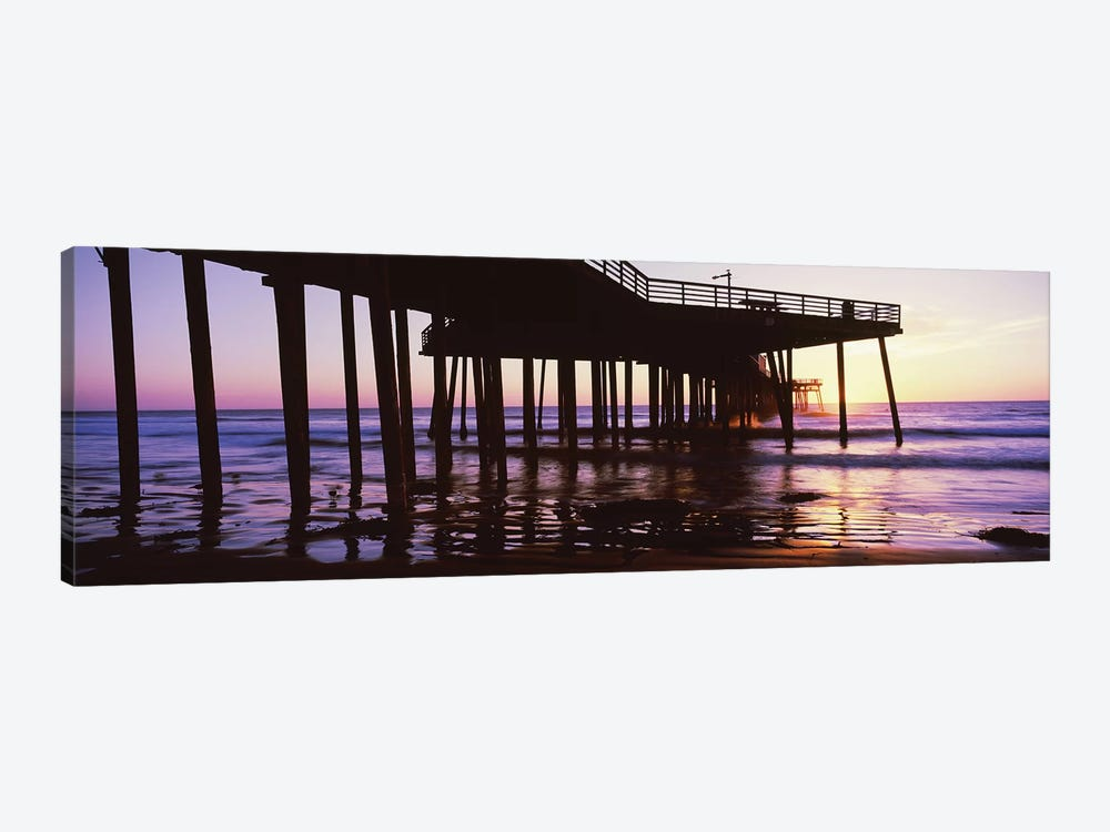 Silhouette Of Pismo Pier At Dusk, Pismo Beach, San Luis Obispo County, California, USA III by Panoramic Images 1-piece Canvas Art