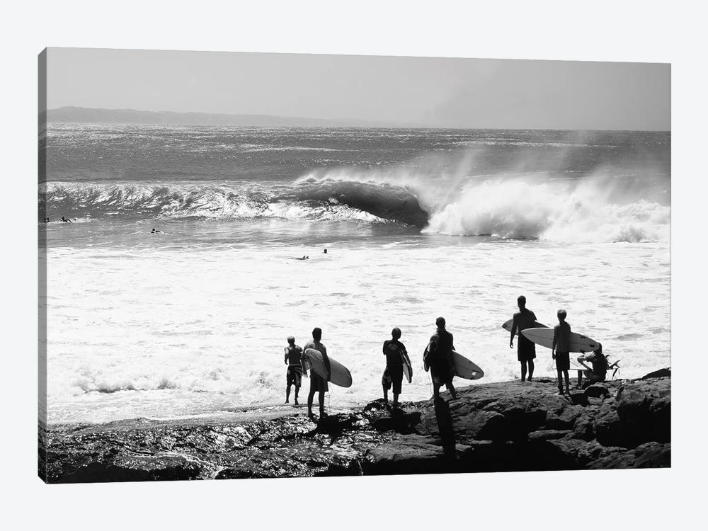 Silhouette Of Surfers Standing On The Beach, Australia by Panoramic Images 1-piece Canvas Wall Art