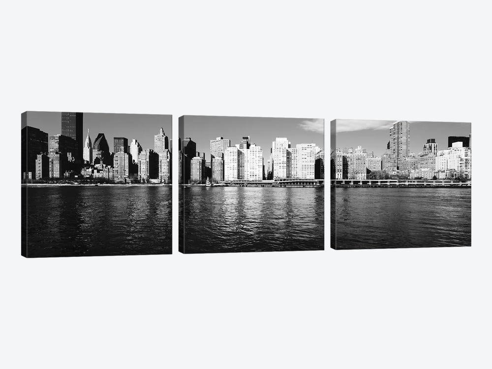 Skyscrapers At The Waterfront, East River, Manhattan, New York City, USA I by Panoramic Images 3-piece Canvas Art