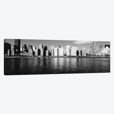 Skyscrapers At The Waterfront, East River, Manhattan, New York City, USA I 3-Piece Canvas #PIM14922} by Panoramic Images Canvas Wall Art