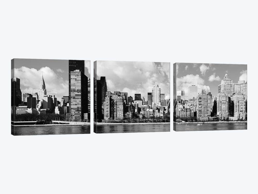 Skyscrapers At The Waterfront, East River, Manhattan, New York City, USA II by Panoramic Images 3-piece Art Print