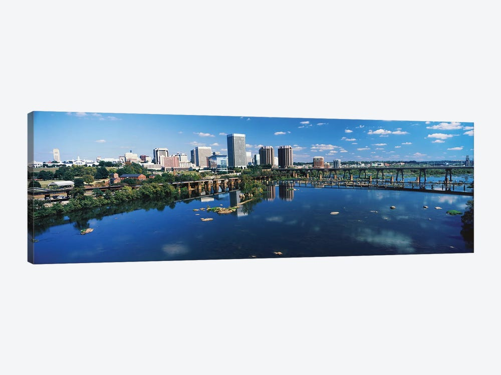 Skyscrapers In A City, Richmond, Virginia, USA by Panoramic Images 1-piece Canvas Wall Art