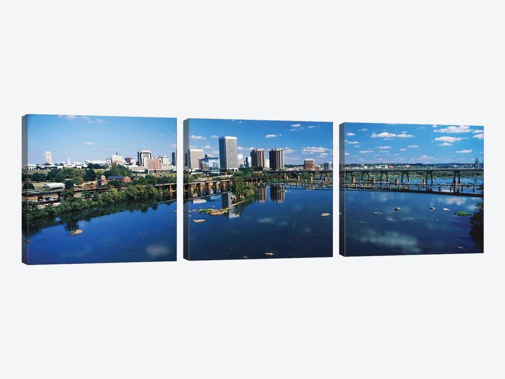 Skyscrapers In A City, Richmond, Virginia, USA by Panoramic Images 3-piece Canvas Artwork