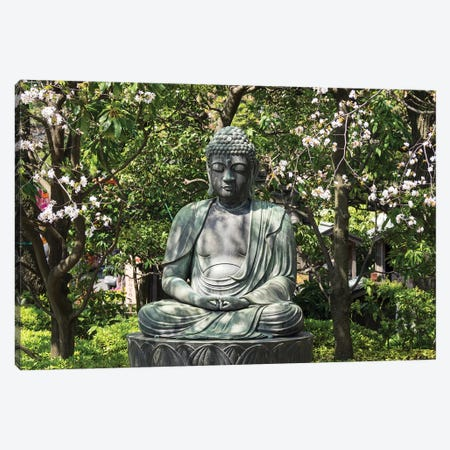 Small Buddha Statue At Senso-Ji Temple, Tokyo, Japan Canvas Print #PIM14926} by Panoramic Images Canvas Art Print