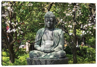 Small Buddha Statue At Senso-Ji Temple, Tokyo, Japan Canvas Art Print