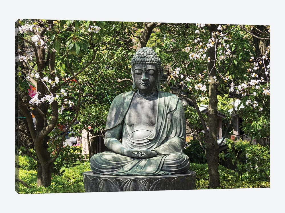 Small Buddha Statue At Senso-Ji Temple, Tokyo, Japan by Panoramic Images 1-piece Canvas Artwork
