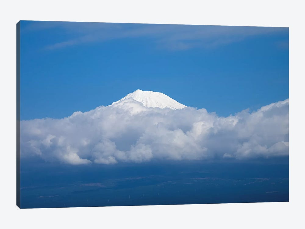 Snow Covered Peak Of Mt. Fuji Seen From Bullet Train, Japan by Panoramic Images 1-piece Art Print