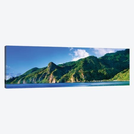 Soufriere, Saint Lucia, South West Coast, Dominica, Caribbean Canvas Print #PIM14928} by Panoramic Images Canvas Wall Art