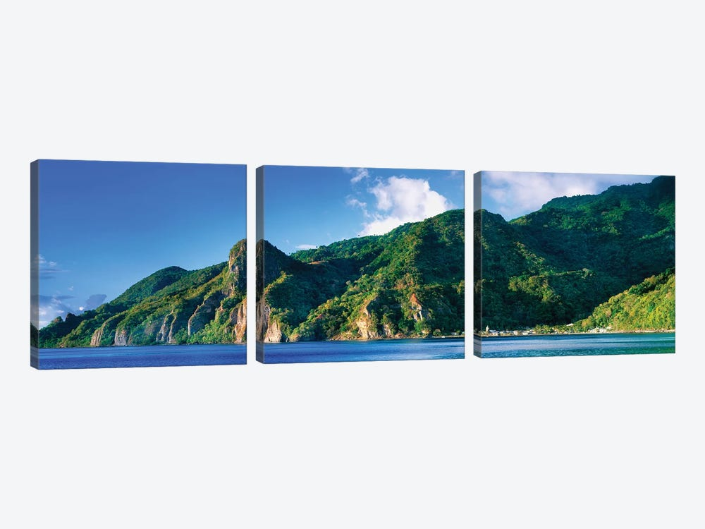 Soufriere, Saint Lucia, South West Coast, Dominica, Caribbean by Panoramic Images 3-piece Canvas Art
