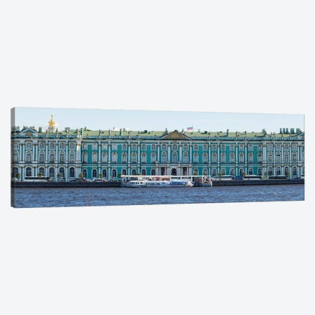 State Hermitage Museum Viewed From Neva River, St. Petersburg, Russia Canvas Print #PIM14934} by Panoramic Images Canvas Artwork