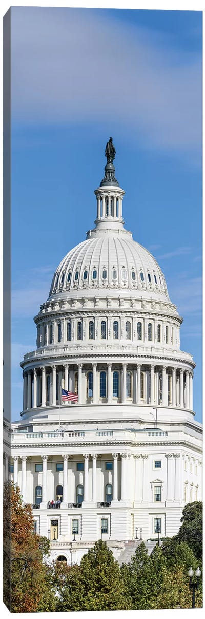 Street View Of Capitol Building, Washington D.C., USA I Canvas Art Print