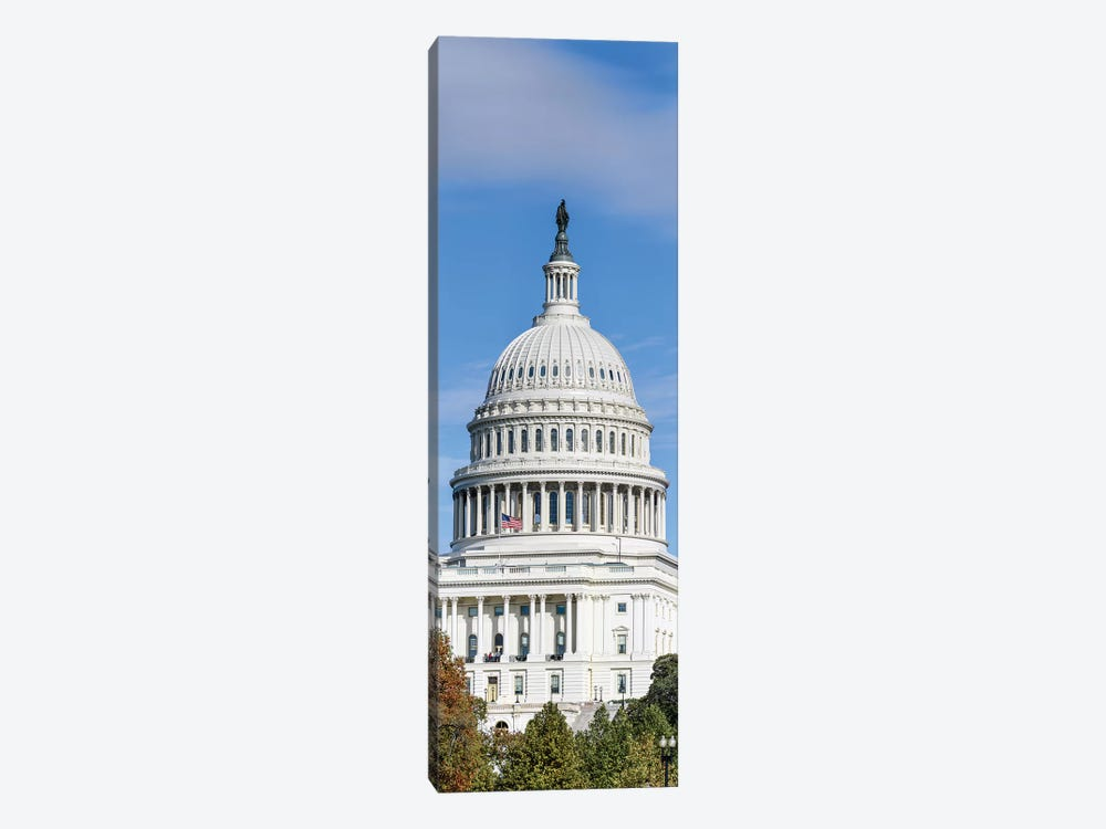 Street View Of Capitol Building, Washington D.C., USA I by Panoramic Images 1-piece Canvas Artwork