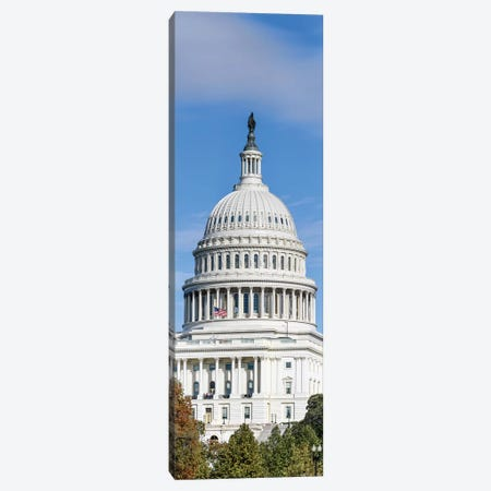 Street View Of Capitol Building, Washington D.C., USA I Canvas Print #PIM14939} by Panoramic Images Canvas Art Print