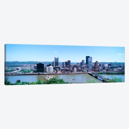 Buildings at the waterfront, Monongahela River, Pittsburgh, Pennsylvania, USA Canvas Print #PIM1493} by Panoramic Images Canvas Artwork