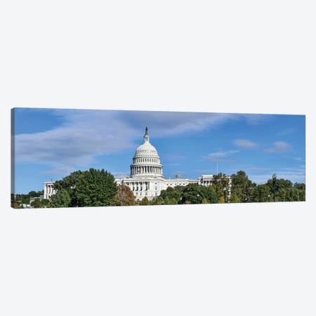 Street View Of Capitol Building, Washington D.C., USA II Canvas Print #PIM14940} by Panoramic Images Canvas Artwork