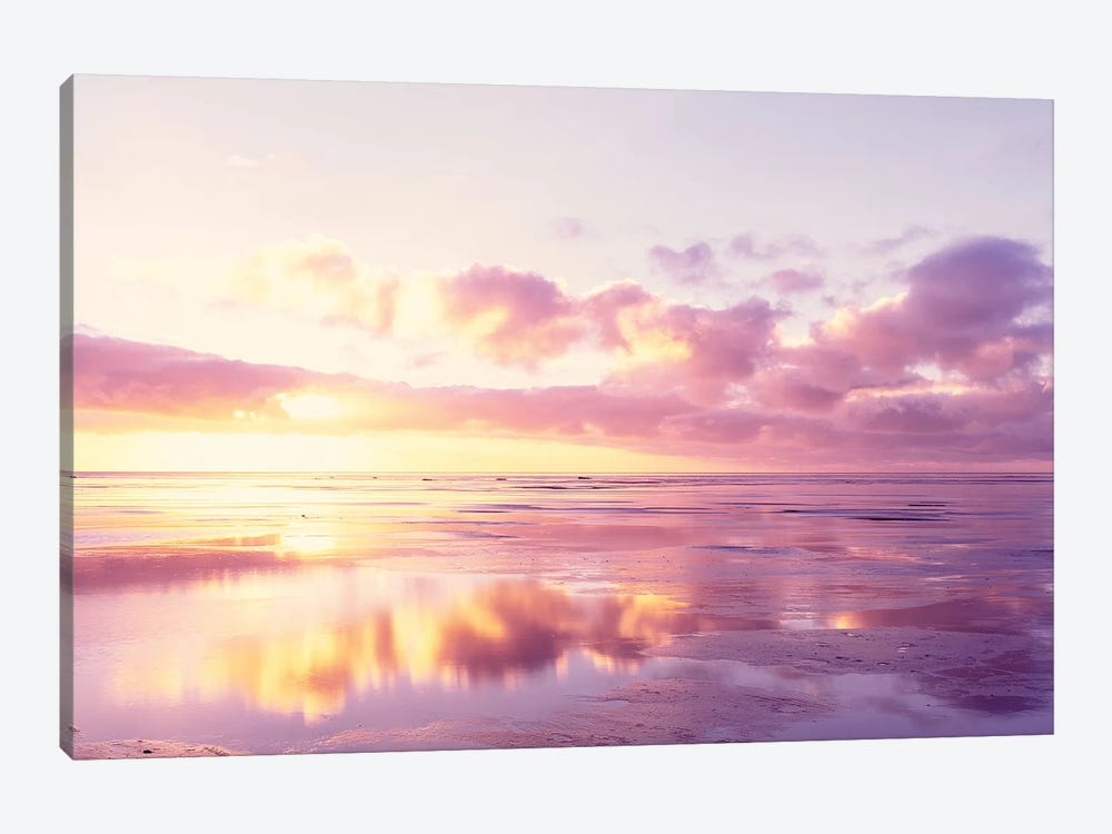 Sunrise On Beach, North Sea, Germany by Panoramic Images 1-piece Canvas Art Print