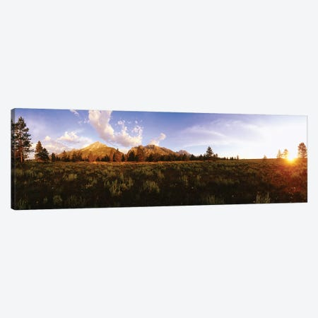 Sunrise Over Teton Range, Grand Teton National Park, Wyoming, USA Canvas Print #PIM14944} by Panoramic Images Canvas Print