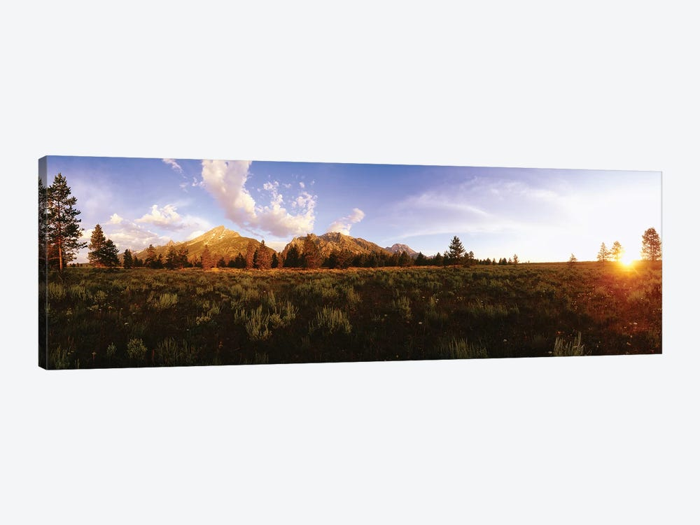 Sunrise Over Teton Range, Grand Teton National Park, Wyoming, USA by Panoramic Images 1-piece Canvas Artwork