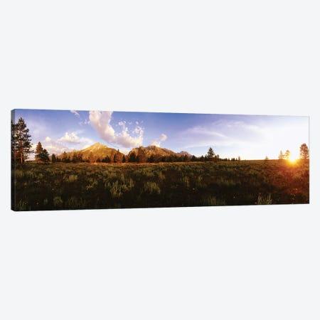 Sunrise Over Teton Range, Grand Teton National Park, Wyoming, USA Canvas Print #PIM14944} by Panoramic Images Canvas Print