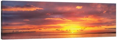 Sunset Over Caribbean Sea, West Coast, Dominica, Caribbean Canvas Art Print