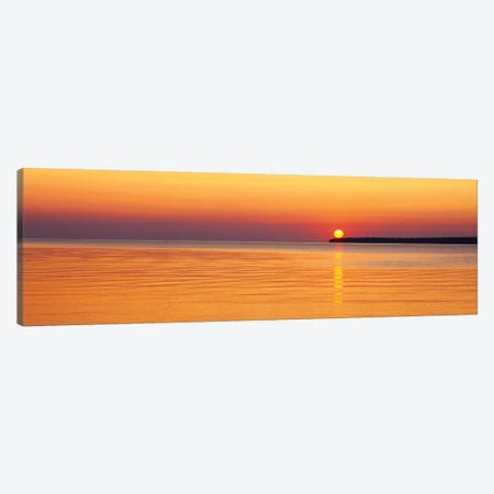 Sunset Over Lake Superior, Apostle Islands National Lakeshore, Wisconsin, USA Canvas Print #PIM14947} by Panoramic Images Canvas Print