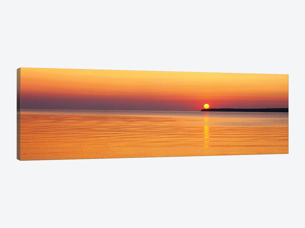 Sunset Over Lake Superior, Apostle Islands National Lakeshore, Wisconsin, USA by Panoramic Images 1-piece Art Print
