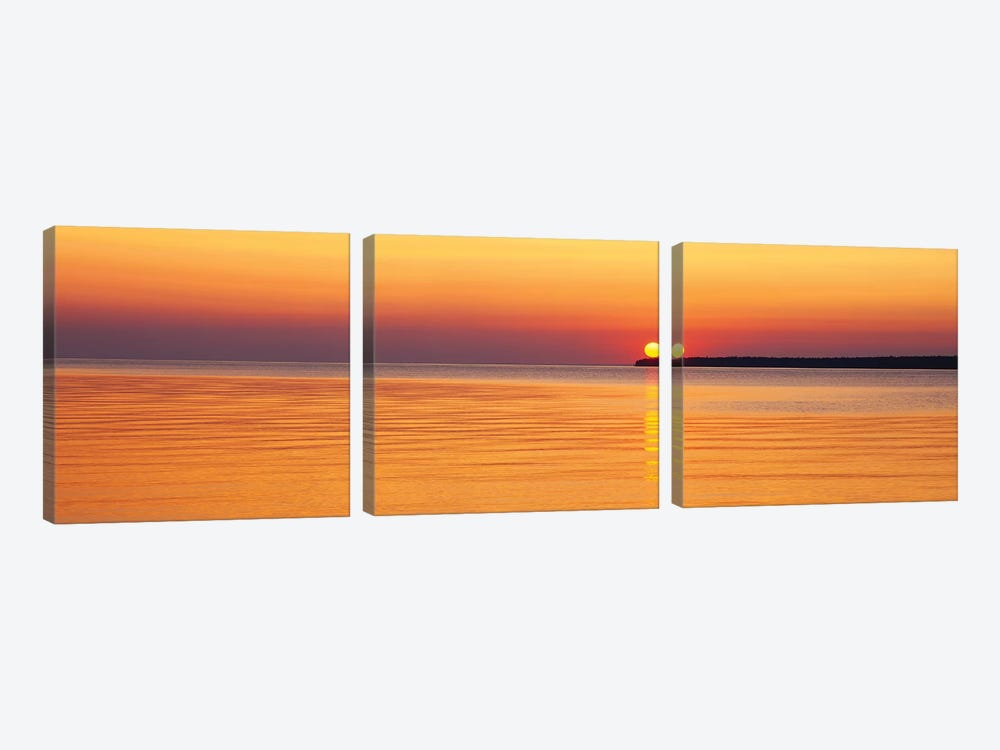 Sunset Over Lake Superior, Apostle Islands National Lakeshore, Wisconsin, USA by Panoramic Images 3-piece Art Print