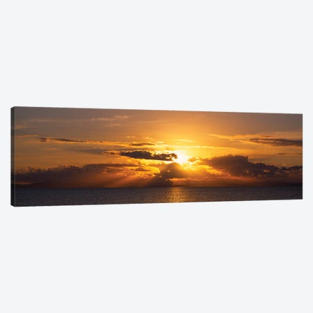 Sunset Over The Atlantic Ocean, Vieques, Puerto Rico Canvas Print #PIM14949} by Panoramic Images Canvas Art