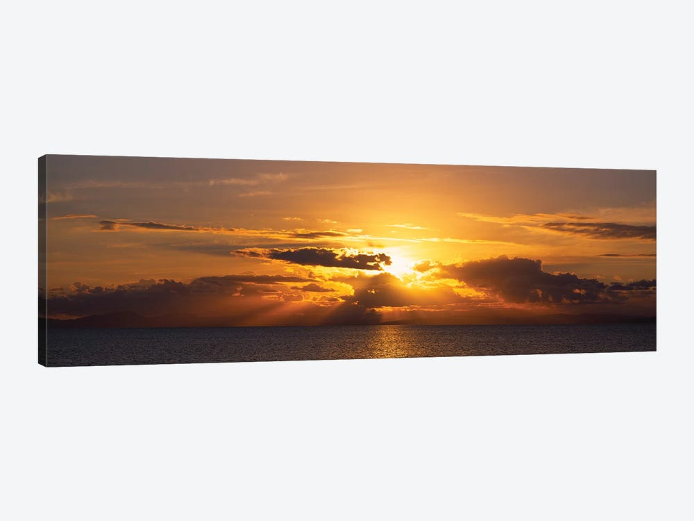 Sunset Over The Atlantic Ocean, Vieques, Puerto Rico by Panoramic Images 1-piece Canvas Print