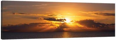 Sunset Over The Atlantic Ocean, Vieques, Puerto Rico Canvas Art Print