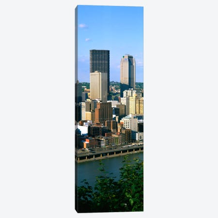 Buildings at the waterfront, Monongahela River, Pittsburgh, Pennsylvania, USA Canvas Print #PIM1494} by Panoramic Images Canvas Print