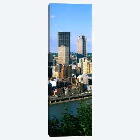 Buildings at the waterfront, Monongahela River, Pittsburgh, Pennsylvania, USA Canvas Print #PIM1494} by Panoramic Images Canvas Print