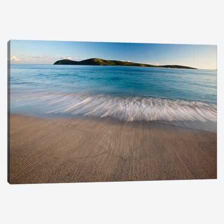 Surf On Beach At Sunset, Culebra Island, Puerto Rico Canvas Print #PIM14950} by Panoramic Images Art Print