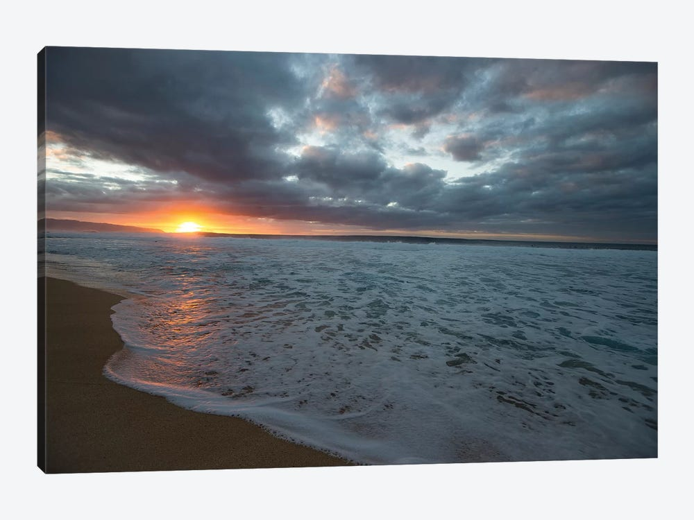 Surf On The Beach At Sunset by Panoramic Images 1-piece Canvas Wall Art