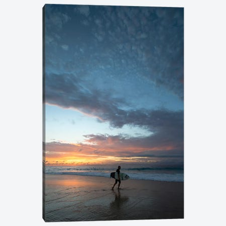 Surfer Walking On The Beach At Sunset, Hawaii, USA III Canvas Print #PIM14956} by Panoramic Images Canvas Art