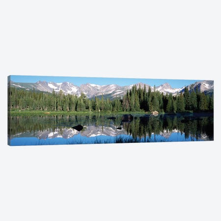 The Indian Peaks Reflected In Red Rock Lake Boulder Colorado, USA Canvas Print #PIM14959} by Panoramic Images Art Print