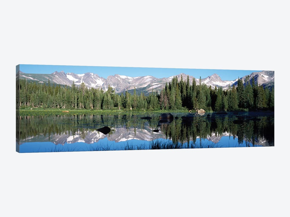 The Indian Peaks Reflected In Red Rock Lake Boulder Colorado, USA by Panoramic Images 1-piece Canvas Art