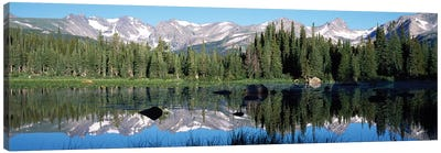 The Indian Peaks Reflected In Red Rock Lake Boulder Colorado, USA Canvas Art Print