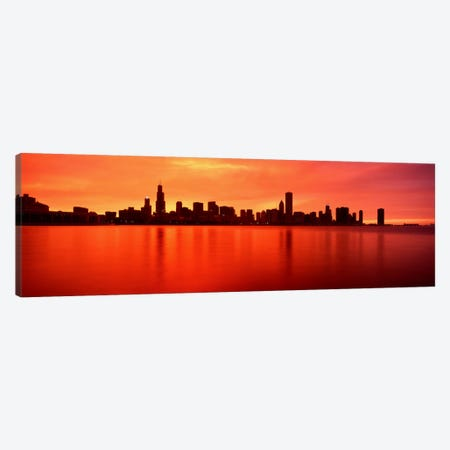 USAIllinois, Chicago, sunset Canvas Print #PIM1495} by Panoramic Images Art Print