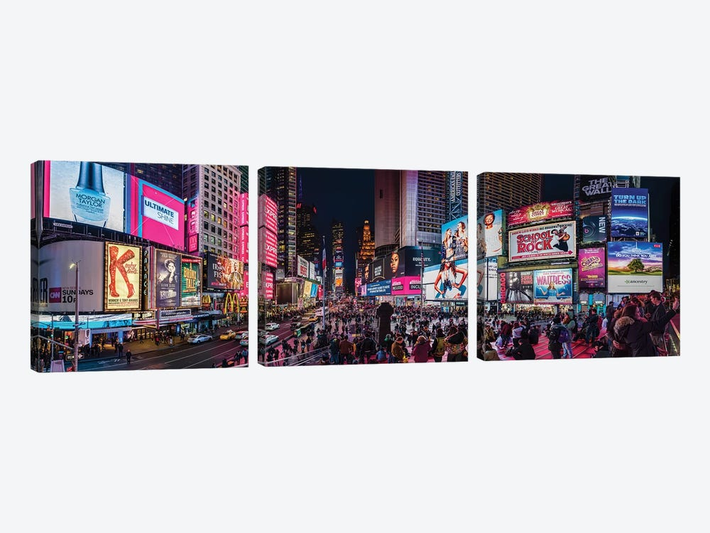 Times Square, Manhattan, New York City, New York State, USA by Panoramic Images 3-piece Art Print