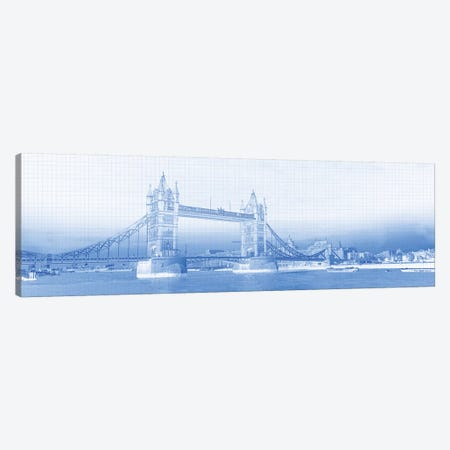 Tower Bridge On Thames River, London, England Canvas Print #PIM14962} by Panoramic Images Canvas Wall Art