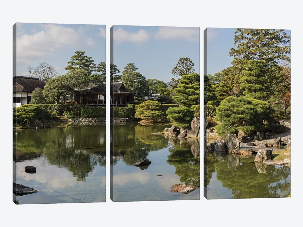 Traditional Garden In Katsura Imperial Villa, Kyoti Prefecture, Japan by Panoramic Images 3-piece Canvas Art Print