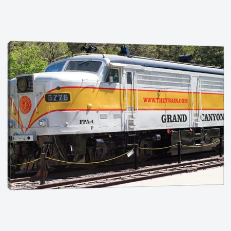 Train On Railroad Track, Grand Canyon Railway, Grand Canyon National Park, Arizona, USA Canvas Print #PIM14965} by Panoramic Images Art Print