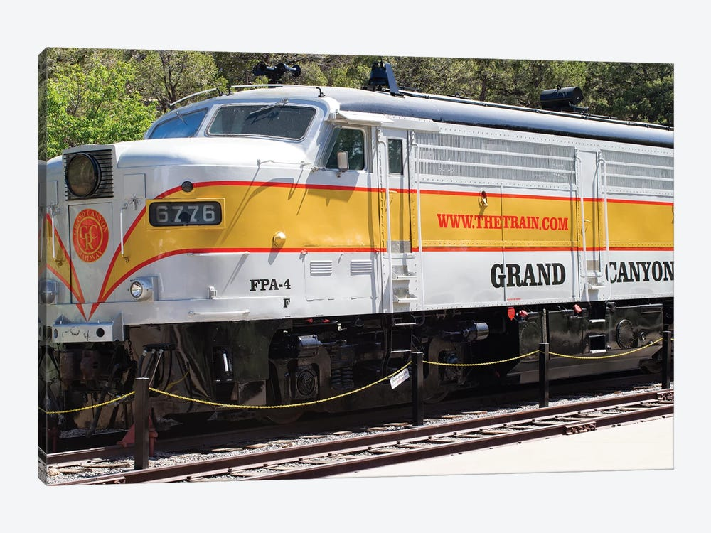Train On Railroad Track, Grand Canyon Railway, Grand Canyon National Park, Arizona, USA by Panoramic Images 1-piece Canvas Print